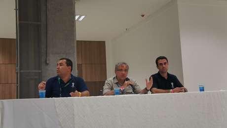 Secretário Ricardo Leitão, pelo Governo do Estado, e gerente do COL, Tiago Paes, fizeram avaliação após o evento teste