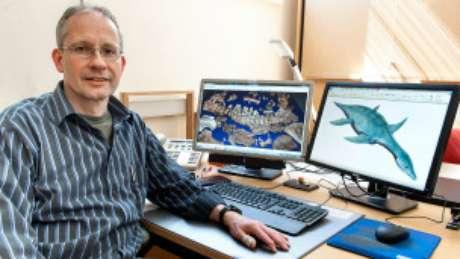 Paleontólogo Oliver Hampe diz que achado ajuda a descobrir mais sobre o período Cretáceo