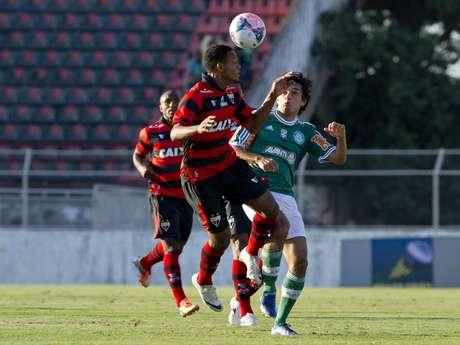 <p>Tiago Real definiu vitória do Palmeiras contra o Atlético-GO</p>