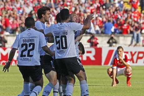 Jogadores do Vitória de Guimarães celebram conquista