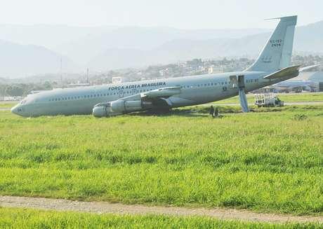 Avião da Força Aérea Brasileira sofreu um acidente neste domingo no Haiti
