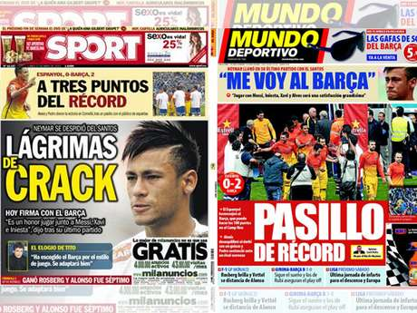 Jornais catalães deram destaque à despedida de Neymar