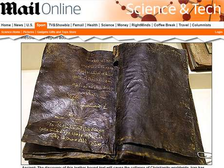 Autoridades turcas acreditam que essa possa ser uma versão autêntica do evangelho escrito pelo discípulo Barnabé