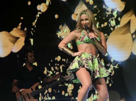 Claudia Leitte apresentou a turnê Sambah no Espaço das Américas, em São Paulo, nessa quarta-feira (29)