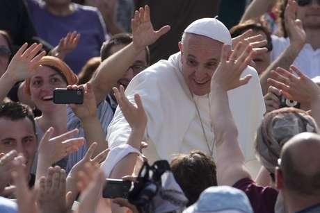 <p>Papa Francisco durante celebração no Vaticano</p>