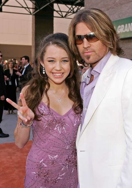 Miley y su padre Billy Ray Cyrus.