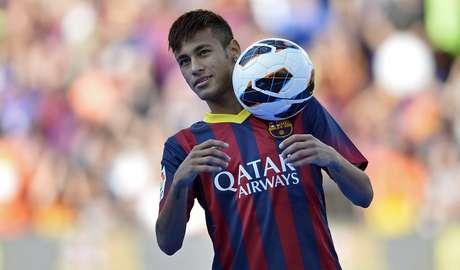 <p>Neymar foi apresentado como novo reforço do Barcelona</p>
