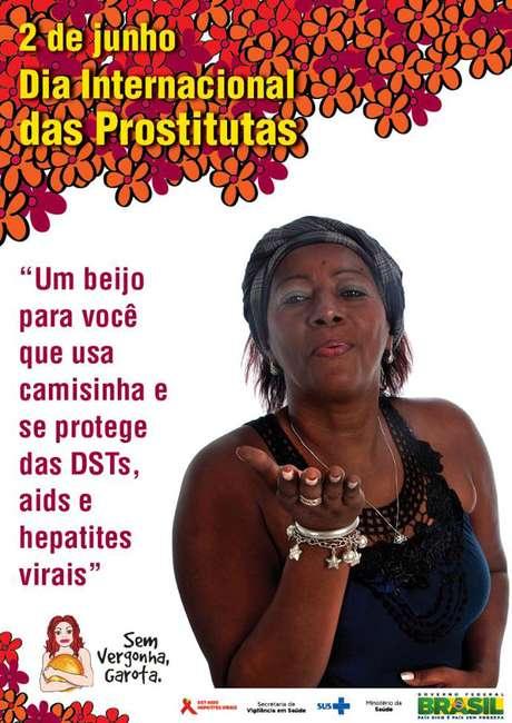 Feita pelo Departamento de DST, Aids e Hepatites Virais, a mobilização comemorou o Dia Internacional das Prostitutas em 2 de junho