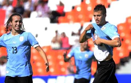 Nicolás López es el referente en el ataque uruguayo.