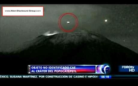 """Imagens parecem mostrar um objeto não identificado """"aterrissando"""" dentro de um vulcão ativo"""