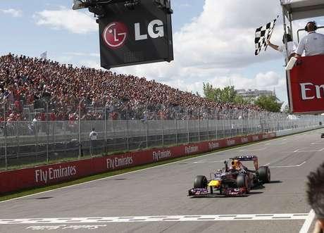 <p>Vettel venceu o GP do Canadá deste ano</p>