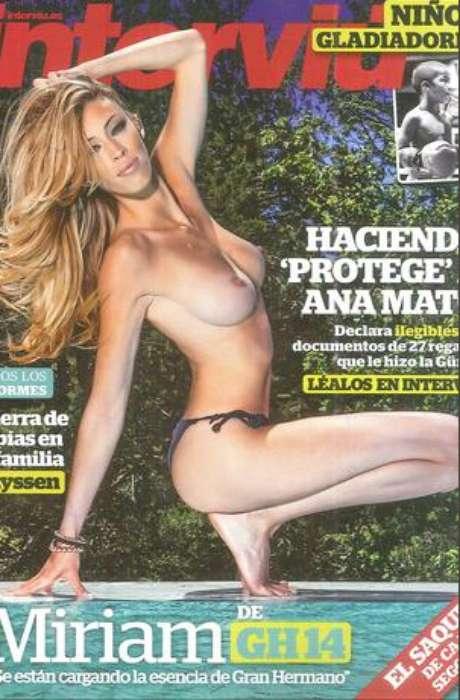 <p><strong>Miriam Cuesta</strong> sigue siendo el centro de la polémica. Tras su paso por el exitoso programa de Telecinco, 'Gran Hermano 14', la expulsada se ha desnudado para las páginas de 'Interviú'.</p>