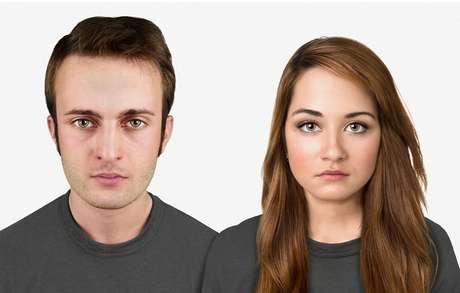 <p>Em 20 mil anos -na projeção dos especialistas, daqui 20 mil anos a cabeça será maior, com uma testa sutilmente grande em comparação a anterior. O anel amarelo em torno dos olhos são lentes que devem representar o Google Glass do futuro</p>