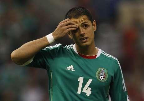 <p>Chicharito lamenta chance desperdiçada pelo México na partida</p>