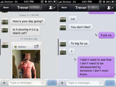 <p>Conversa entre Trevor e a mulher mostra como o jovem se divertia com a situação</p>