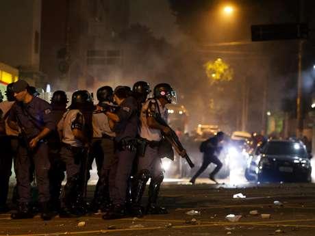 <p>Principal local de confronto entre policiais e manifestantes foi o cruzamento das ruas Maria Antônia com Consolação</p>
