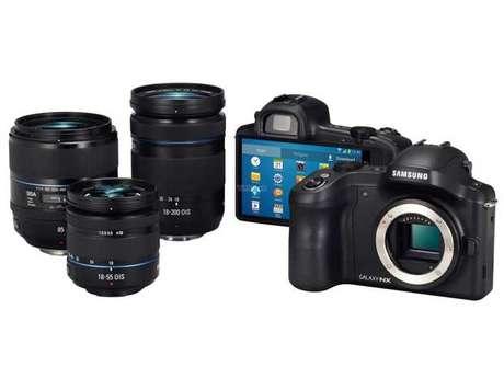 Fotos vazadas sugerem uma câmera com lentes intercambiáveis e rodando Android