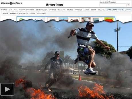 A versão online do jornal americano The New York Times também observa que os protestos 'vêm numa época delicada', quando os líderes políticos estão tentando controlar problemas como aumento da inflação e desaceleração econômica e 'tentando promover o Brasil como um destino seguro e estável'