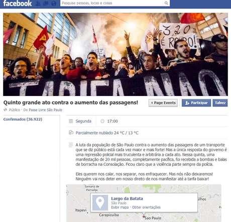 Grupo agendou novo protesto para a próxima segunda-feira