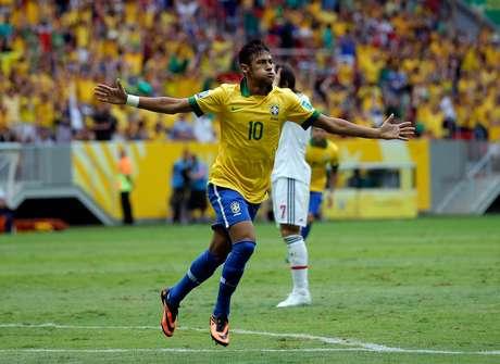 """<p>Neymar vivia jejum e por isso foi """"mordido"""" para o jogo contra o Japão, de acordo com Galvão Bueno</p>"""