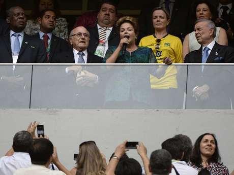<p>A presidente Dilma Rousseff foi vaiada na abertura da Copa das Confedera&ccedil;&otilde;es, em Bras&iacute;lia</p>