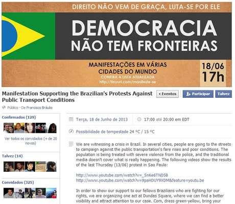 <p>Brasileiros convocam manifestação em Toronto, no Canadá</p>