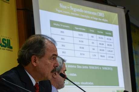 Ministro da Educação, Aloizio Mercadante, divulga balanço final do Sistema de Seleção Unificada (Sisu) 2013