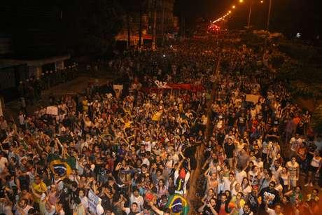 Cerca de 13 mil pessoas protestaram pelas ruas de Belém