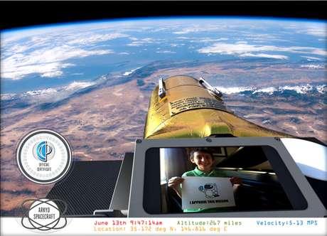 <p>Uma contribuição de US$ 25 colaborapara o projeto egarante ao doador uma foto no espaço</p>