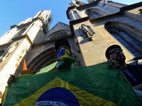 <p>Praça da Sé é ponto de partida para protesto desta terça-feira em São Paulo</p>