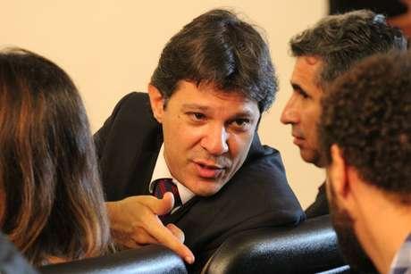 Prefeito de São Paulo Fernando Haddad e representantes do Movimento Passe Livre participam de reunião do Conselho da Cidade para falar sobre o transporte público na capital paulista