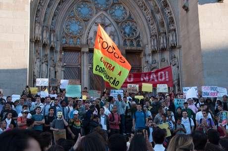 <p>O protesto desta ter&ccedil;a-feira, que parte da Pra&ccedil;a da S&eacute;, no Centro de S&atilde;o Paulo, &eacute; coordenado pelo Movimento Passe Livre</p>