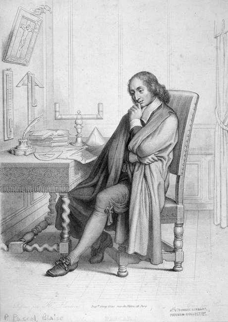 <p>O filósofo, matemático e físico francês Pascal (1623 - 1662) formulou uma teoria geométrica aos 16 anos</p>