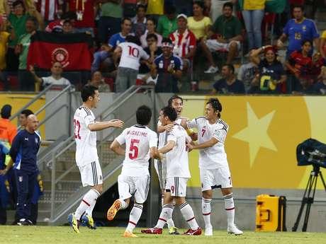 <p>Gol do Japão foi muito comemorado pelos torcedores brasileiros</p>