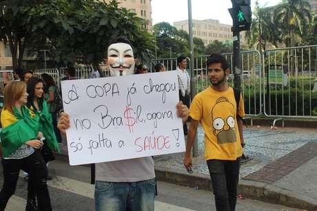 <p>Belo Horizonte teve novos protestos contra a Copa do Mundo</p>