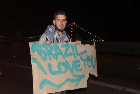18 de junho - Missionário americano Josue Viller participou dos protestos em Florianópolis