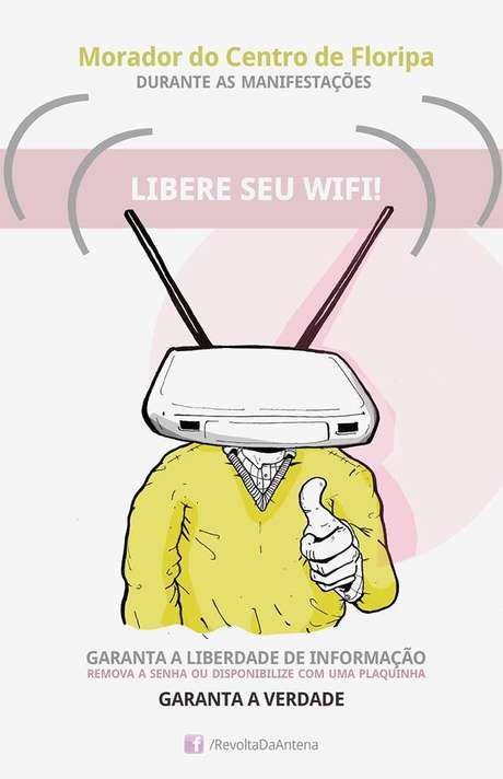 Campanha pede que moradores liberem o acesso a suas redes de internet sem fio