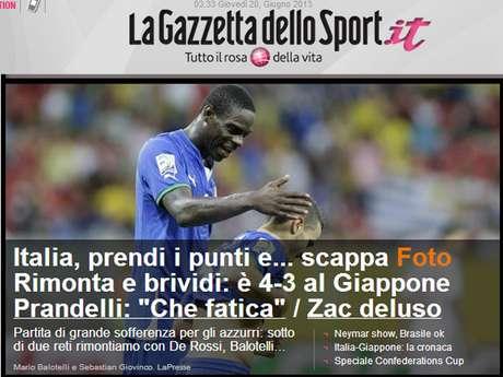 """Para La Gazzetta Dello Sport, vitória italiana pode ser resumida em """"reação e calafrios"""""""