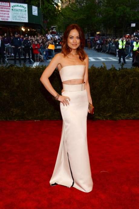 <p>Olivia Wilde con un vestido de Calvin Klein.</p>