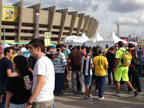 <p>No sábado, o Estádio do Mineirão recebeu a partida entre Japão e México</p>