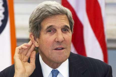 <p>O secret&aacute;rio de Estado americano, Jonh Kerry, em viagem recente &agrave; &Iacute;ndia</p>