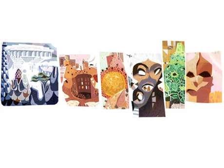 Antoni Gaudí é homenageado por seus 161 anos em doodle do Google