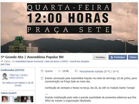 <p>Assembleia Popular promete marcha até Mineirão; #Vemprarua ainda não definiu rota</p>