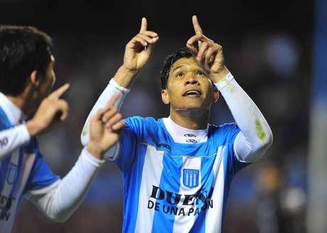 """<p>""""Dios quiera pueda jugar en River"""", dijo el ex Racing """"Teo"""" Gutiérrez</p>"""