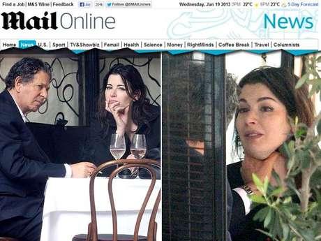 <p>Nigella durante discussão com o ex-marido em restaurante</p>