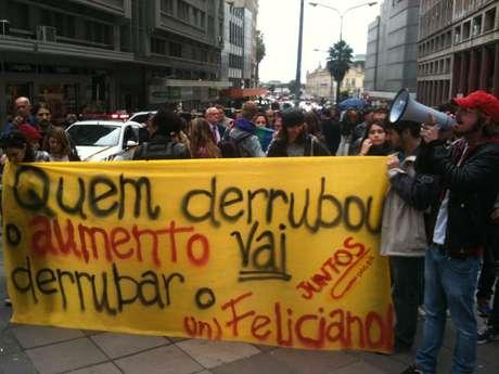 Manifestantes pediam a queda de Marco Feliciano