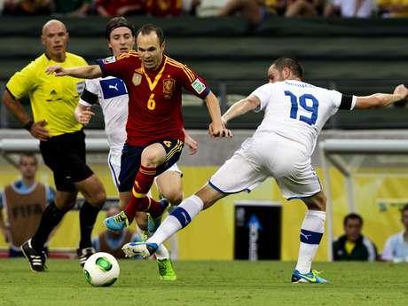 <p>Iniesta foi o principal criador de jogadas da partida</p>