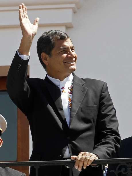 <p>Rafael Correa criticou os EUA pelo caso de espionagem</p>