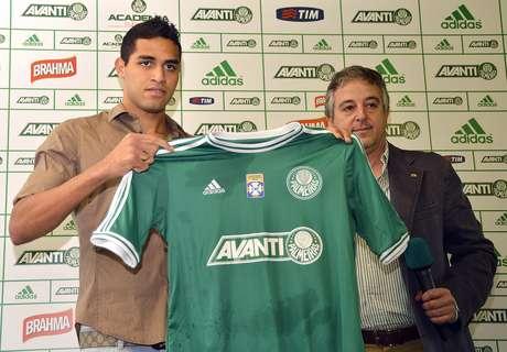 <p>Alan Kardec foi apresentado pelo Palmeiras há duas semanas</p>