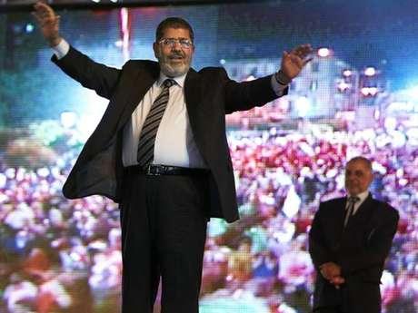 Mohamed Mursi, durante a campanha de 2012